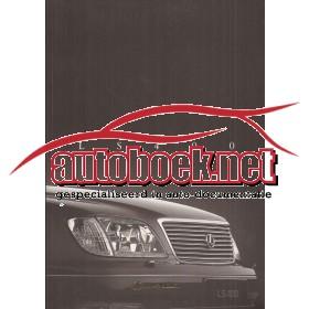 Lexus LS400 brochure 52 pagina's 97 met gebruikssporen Nederlands