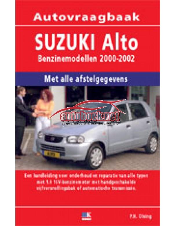Suzuki Alto Vraagbaak P. Olving Benzine 2000-2002 nieuw ISBN 978-90-2154-429-8 Nederlands 2000 2001 2002