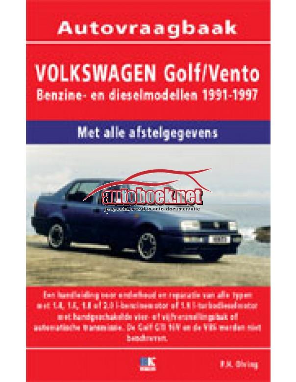 Volkswagen Golf 3 / Vento Vraagbaak P. Olving Geen GTi16V/VR6 Benzine/Diesel 1991-1997 nieuw ISBN 978-90-8572-094-2 Nederlands 1991 1992 1993 1994 1995 1996 1997