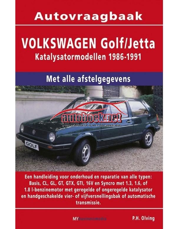 Volkswagen Golf 2 / Jetta Vraagbaak P. Olving  Katalysator Benzine 1986-1991 nieuw ISBN  978-90-8572-091-1 Nederlands 1986 1987 1988 1989 1990 1991