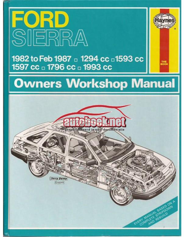 Ford Sierra Owners workshop manual J. Haynes  Benzine Haynes UK 82-87 ongebruikt   Engels