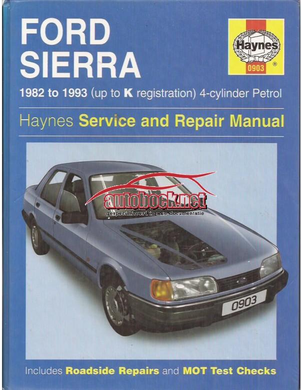 Ford Sierra Owners workshop manual J. Haynes Benzine Haynes UK 1982-1993 met gebruikssporen Engels