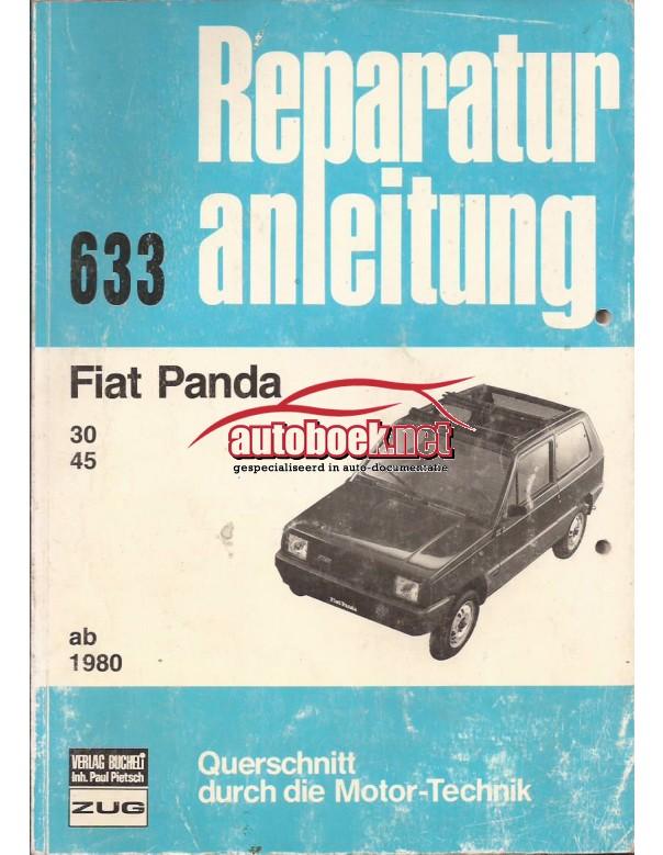 Fiat Panda Querschnitt Reparaturanleitung A. Bucheli  Benzine Verlag Bucheli 80-84 met gebruikssporen   Duits