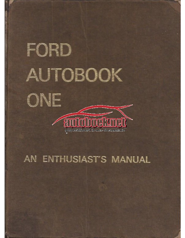 Ford Anglia/Prefect/Corsair/Cortina/Lotus/Capri Workshop Manual Benzine Autopress 59-65 met gebruikssporen ex-bibliotheek Engels