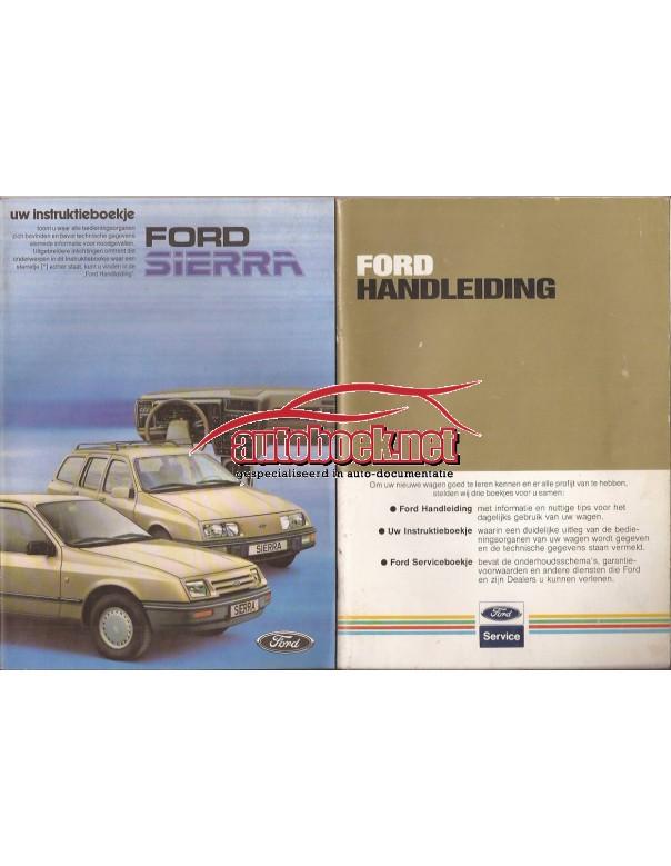 Ford Sierra Instructieboekje   Benzine Fabrikant 84 ongebruikt   Nederlands