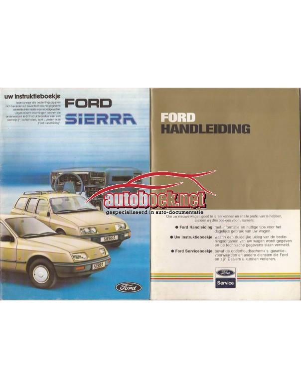 Ford Sierra Instructieboekje   Benzine Fabrikant 85 ongebruikt   Nederlands
