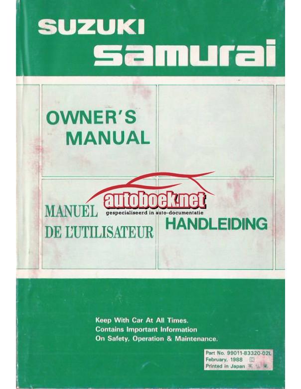 Suzuki Samurai Instructieboekje   Benzine Fabrikant 88 ongebruikt   Nederlands/Frans/Engels