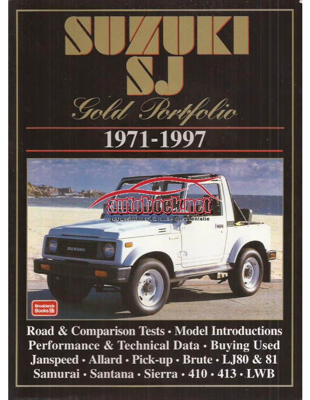Suzuki SJ R. Clarke Benzine Brooklands Gold Portfolio 71-97 met gebruikssporen Engels