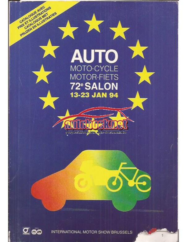 Autosalon Brussel 1994, overzichtsboek, met gebruikssporen, Nederlands/Frans