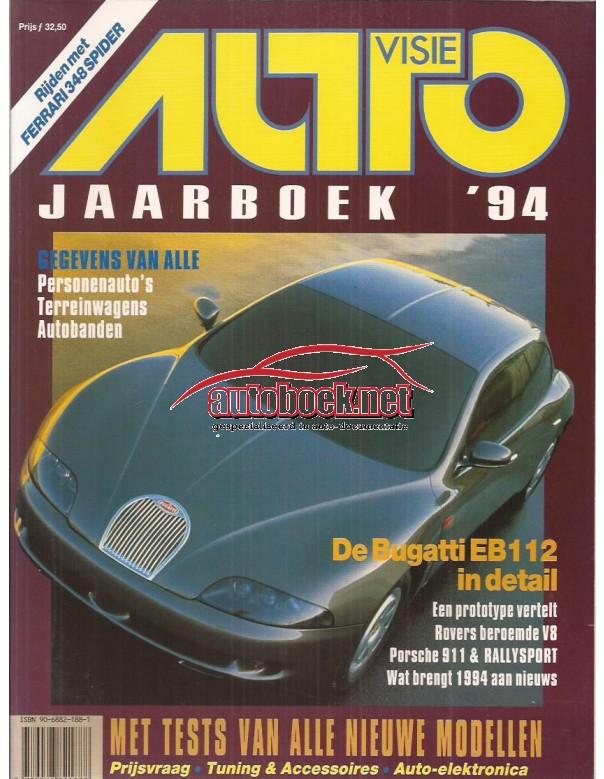 Jaarboek  Alle modellen Autovisie 94 met gebruikssporen   Nederlands