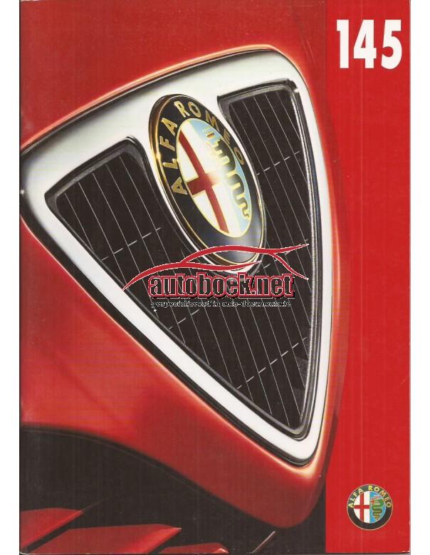 Alfa Romeo 145 brochure 44 pagina's 97 met gebruikssporen Nederlands