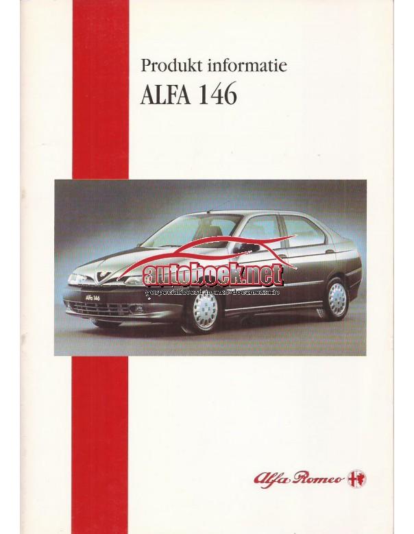 Alfa Romeo 146 produkt informatie 44 pagina's 95 met gebruikssporen Nederlands