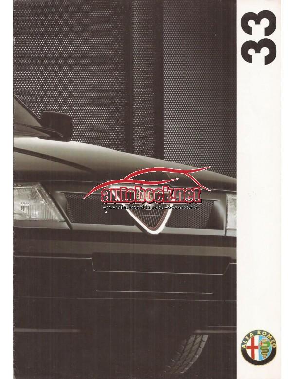 Alfa Romeo 33 brochure 8 pagina's 1992 met gebruikssporen Nederlands
