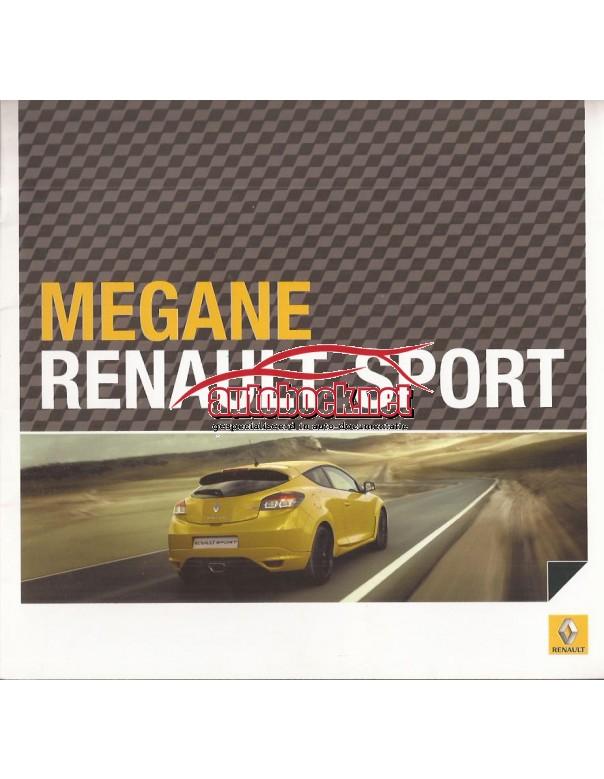 Renault Megane RS brochure 28 pagina's Benzine Fabrikant 09 ongebruikt Nederlands
