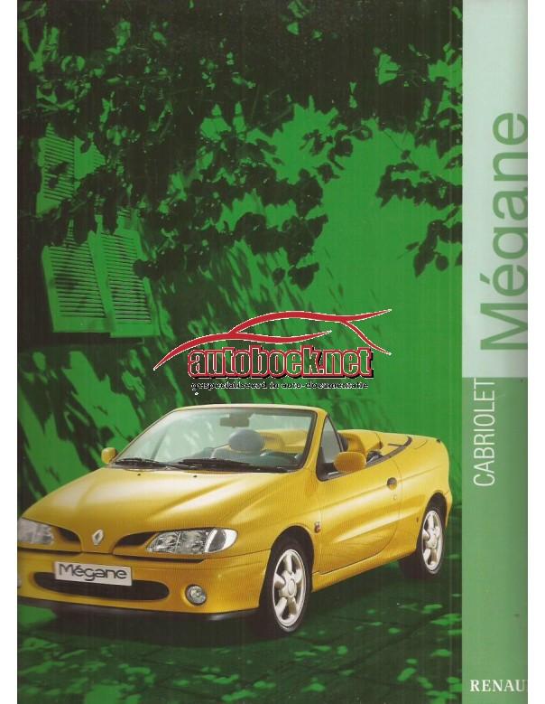 Renault Megane Cabriolet brochure 16 pagina's Benzine Fabrikant 99 ongebruikt Nederlands