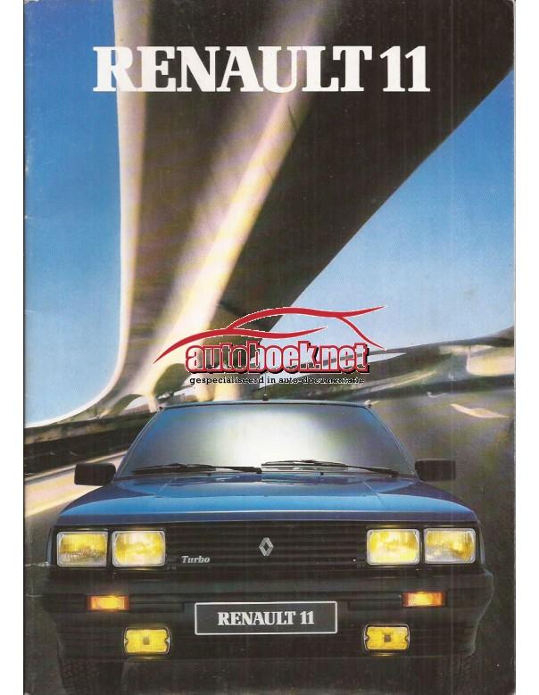 Renault 11 brochure 32 pagina's Benzine/Diesel Fabrikant 86 ongebruikt Nederlands