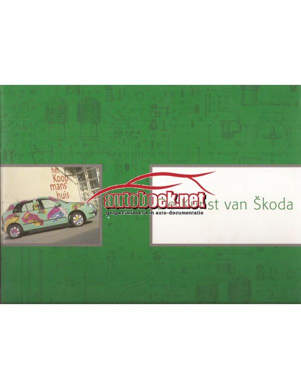Skoda alle modellen de kunst van Skoda pagina's 1999 met gebruikssporen Nederlands