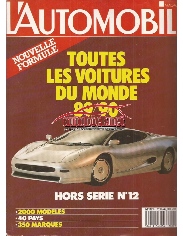 Jaarboek  Alle modellen L'Automobile 89 90 met gebruikssporen Frans