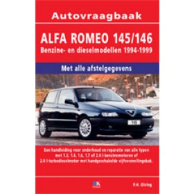 Alfa Romeo 145/146 Vraagbaak P. Olving  Benzine/Diesel 1994-1999 nieuw ISBN 978-90-2153-230-1 Nederlands 1994 1995 1996 1997 1998 1999
