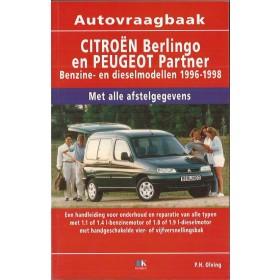 Citroen/Peugeot Berlingo/Partner Vraagbaak P. Olving  Benzine/Diesel Kluwer 1996-1998 nieuw   ISBN 90-215-3318-9 Nederlands 1996 1997 1998