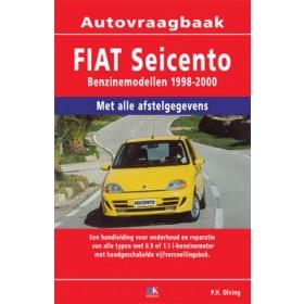 Fiat Seicento Vraagbaak P. Olving  Benzine Kluwer 1998-2000 nieuw ISBN 978-90-8572-226-7 Nederlands 1998 1999 2000