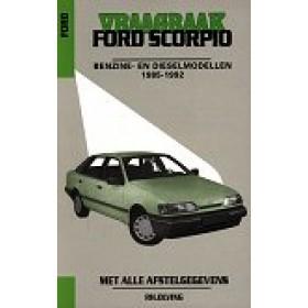 Ford Scorpio Vraagbaak P. Olving  Benzine/Diesel Kluwer 1985-1992 met gebruikssporen ISBN 90-215-8885-4 Nederlands 1985 1986 1987 1988 1989 1990 1991 1992
