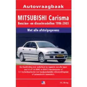 Mitsubishi Carisma Vraagbaak P. Olving  Benzine/Diesel 1996-2003 nieuw ISBN  978-90-8572-182-6 Nederlands