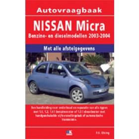 Nissan Micra Vraagbaak P. Olving Benzine/Diesel 2003-2004 nieuw ISBN 978-90-2158-134-7 Nederlands 2003 2004