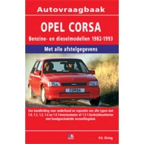 Opel Corsa A Vraagbaak P. Olving  Benzine/Diesel 1986-1993 nieuw ISBN 978-90-2153-977-5 Nederlands 1986 1987 1988 1989 1990 1991 1992 1993