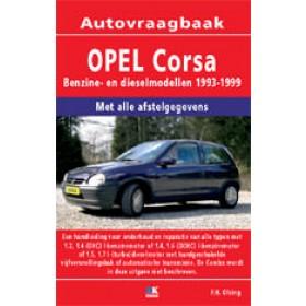 Opel Corsa B Vraagbaak P. Olving  Benzine/Diesel  1993-1999 nieuw ISBN  978-90-8572-222-9  Nederlands 1993 1994 1995 1996 1997 1998 1999