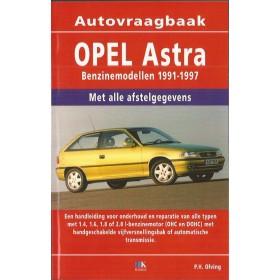 Opel Astra A Vraagbaak P. Olving  Benzine 1991-1997 nieuw   ISBN  978-90-8572-225-0 Nederlands 1991 1992 1993 1994 1995 1996 1997