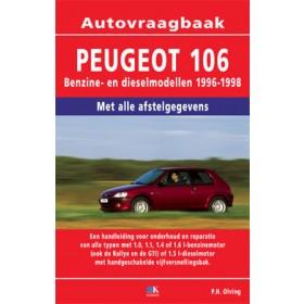 Peugeot 106 Vraagbaak P. Olving  Benzine/Diesel Kluwer 96-98 nieuw   ISBN 90-201-2997-x Nederlands