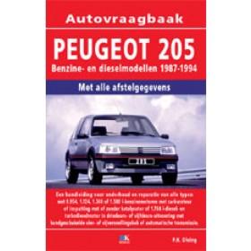 Peugeot 205 Vraagbaak P. Olving  Benzine/Diesel Kluwer 87-94 nieuw   ISBN 90-215-3359-6 Nederlands