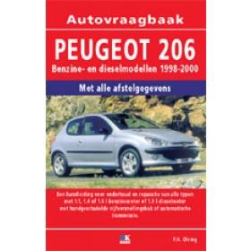 Peugeot 206 Vraagbaak P. Olving  Benzine/Diesel Kluwer 98-00 nieuw   ISBN 90-215-8769-6 Nederlands