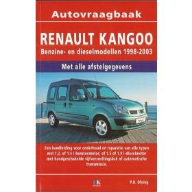 Renault Kangoo Vraagbaak P. Olving  Benzine/Diesel Kluwer 1998-2003 nieuw   ISBN 90-215-4527-1 Nederlands