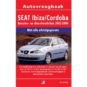 Seat Ibiza/Cordoba Vraagbaak P. Olving  Benzine/Diesel 2002-2004 nieuw ISBN 978-90-2158-124-8 Nederlands 2002 2003 2004
