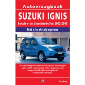 Suzuki Ignis Vraagbaak P. Olving  Benzine/Diesel 2002-2005 nieuw ISBN 978-90-8572-234-2 Nederlands 2002 2003 2004 2005