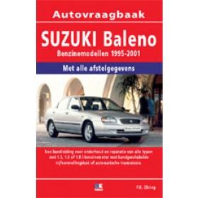 Suzuki Baleno Vraagbaak P. Olving  Benzine/Diesel 1995-2001 nieuw   ISBN 978-90-8572-220-5 Nederlands 1995 1996 1997 1998 1999 2000 2001