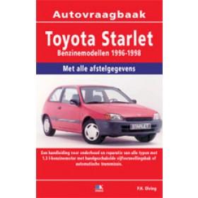 Toyota Starlet Vraagbaak P. Olving Benzine 1996-1998 nieuw ISBN 978-90-2154-628-5 Nederlands 1996 1997 1998