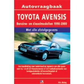 Toyota Avensis Vraagbaak P. Olving  Benzine/Diesel 1998-2000 nieuw ISBN 978-90-2158-779-0 Nederlands 1998 1999 2000