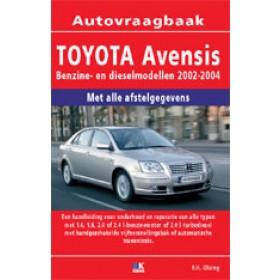 Toyota Avensis Vraagbaak P. Olving  Benzine/Diesel 2002-2004 nieuw ISBN 978-90-2158-136-1 Nederlands 2002 2003 2004