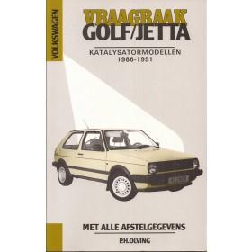 Volkswagen Golf 2/Jetta Vraagbaak P. Olving  Katalysator Benzine Kluwer 86-91 nieuw   ISBN 90-215-3429-0 Nederlands