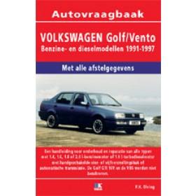 Volkswagen Golf 3/Vento Vraagbaak P. Olving Geen GTi16V/VR6 Benzine/Diesel Kluwer 91-97 nieuw   ISBN 90-215-3449-5 Nederlands