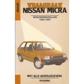 Nissan Micra Vraagbaak P. Olving Benzine Kluwer 1983-1987 ongebruikt  ISBN 90-201-2024-7 Nederlands