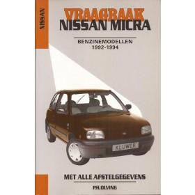 Nissan Micra Vraagbaak P. Olving Benzine Kluwer 1992-1994 nieuw ISBN 90-201-2903-1 Nederlands