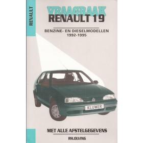 Renault 19 Vraagbaak P. Olving  Benzine/Diesel Kluwer 1992-1995 nieuw ISBN 90-201-2967-8 Nederlands 1992 1993 1994 1995