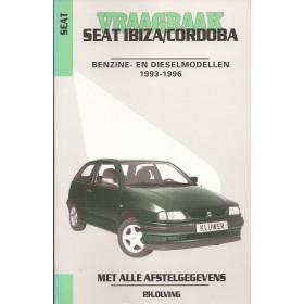 Seat Ibiza/Cordoba Vraagbaak P. Olving  Benzine/Diesel Kluwer 1993-1996 nieuw ISBN 90-201-2955-4 Nederlands 1993 1994 1995 1996