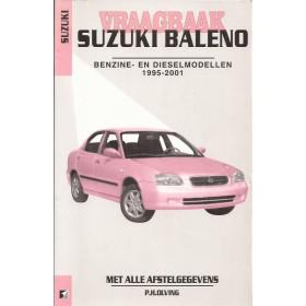 Suzuki Baleno Vraagbaak P. Olving Benzine 1995-2001 met gebruikssporen Nederlands 1995 1996 1997 1998 1999 2000 2001