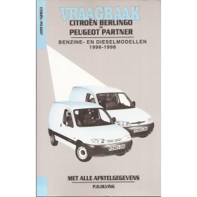 Citroen Berlingo Peugeot Partner Vraagbaak P. Olving  Benzine/Diesel Kosmos 1996-1998 nieuw ISBN 90-215-3318-9 Nederlands 1996 1997 1998