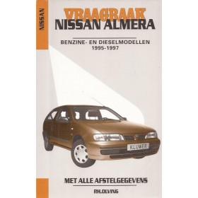 Nissan Almera Vraagbaak P. Olving  Benzine/Diesel Kluwer 1995-1997 nieuw vouw in kaft ISBN 90-201-2974-0 Nederlands 1995 1996 1997